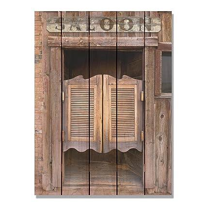 Gizaun Art Saloon Door 28 Inch By 36 Inch Insideoutside Wall Art Full Color On Cedar
