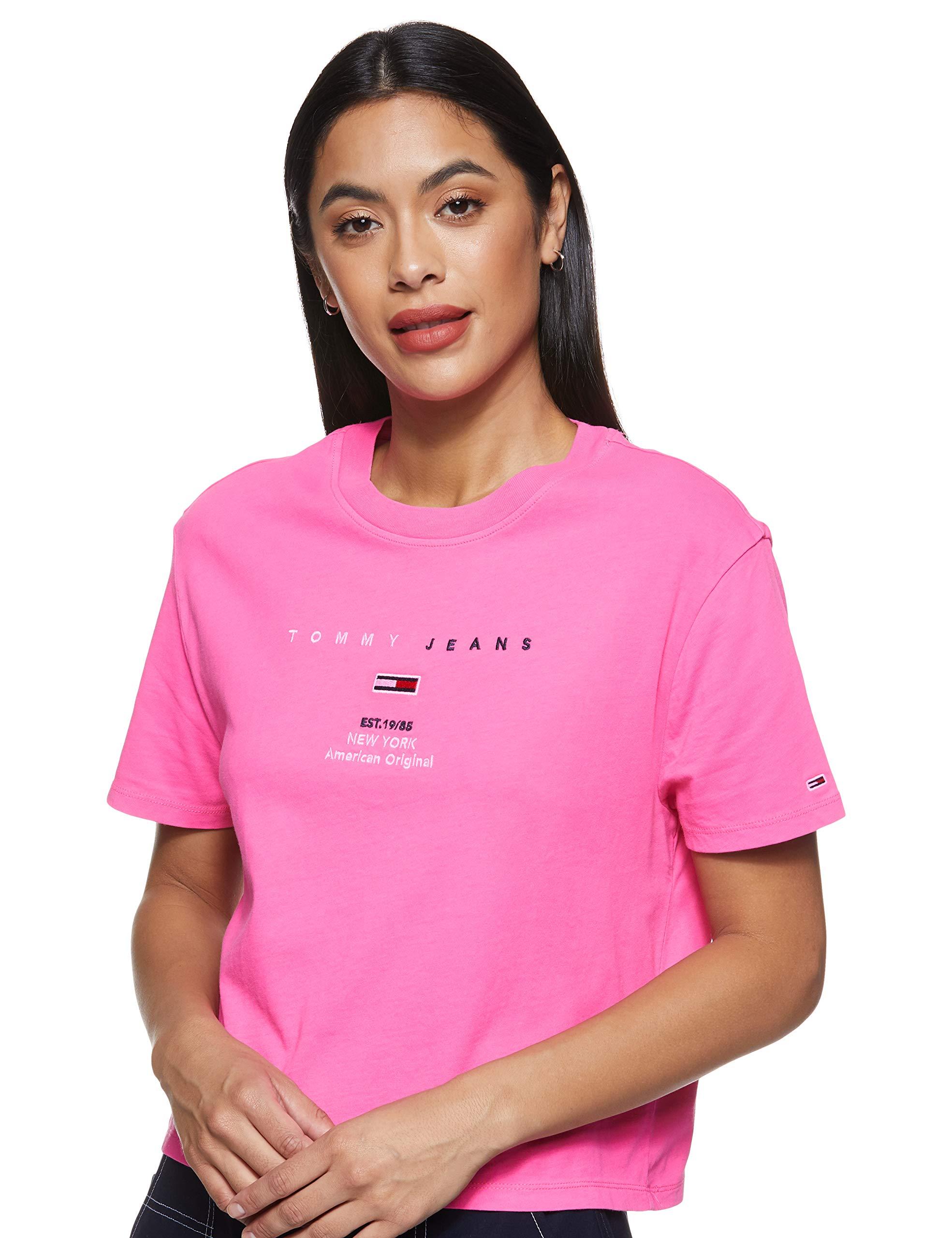 Tommy Hilfiger Women's TJW Logo Text T-Shirt