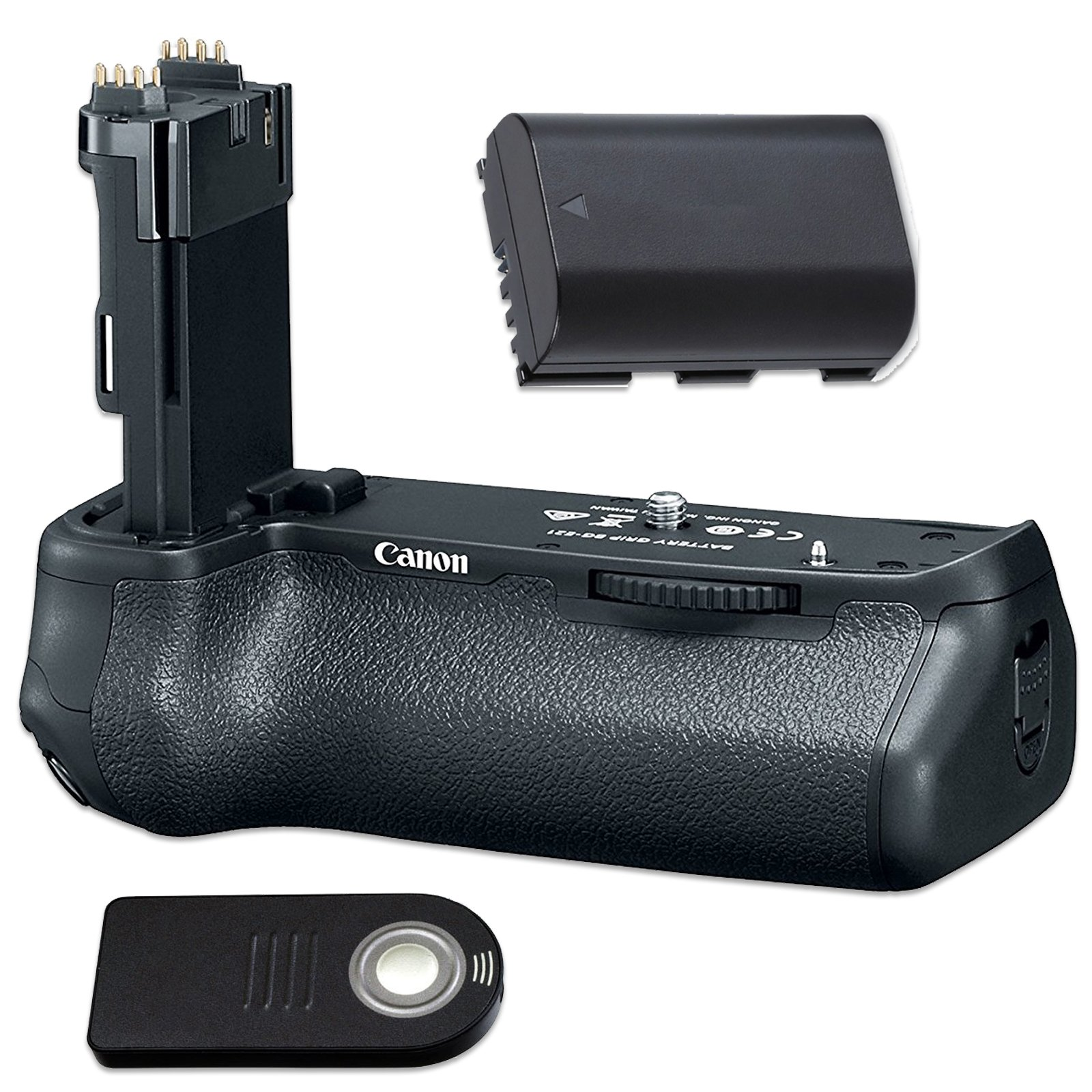 Canon BG-E21 Battery Grip for EOS 6D Mark II with Replaceable LP-E6 Battery and Wireless Shutter Release Remote