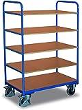 Cordes Etagenwagen, 5 Ladeflächen, Ladefläche LxB 850x500 mm, Außenmaße LxBxH 910x500x1524 mm, Traglast 250 kg