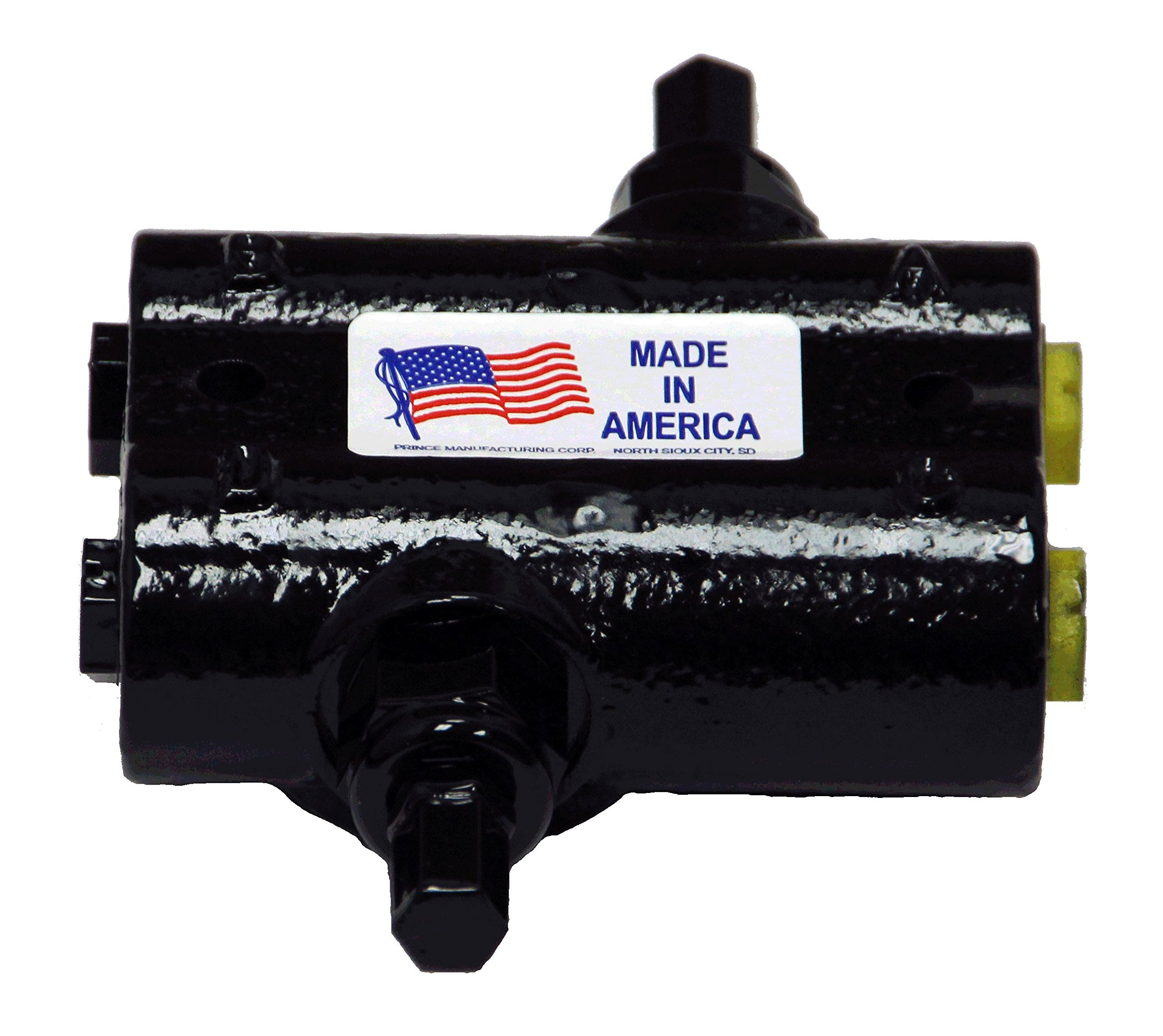 Prince Manufacturing DRV-4HH Double Relief Valve, 2000 psi at 10 GPM Adjustable Setting, 1/2'' Ports, Gloss Black by Prince Manufacturing (Image #1)