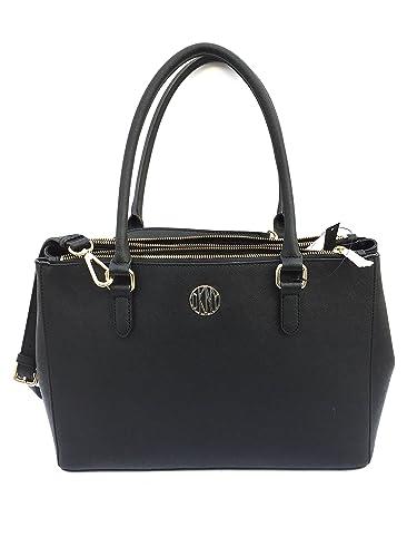 DKNY Women s Bryant Park Saffiano Leather Double Zip Large Bag ... dd9f3dca64d5b