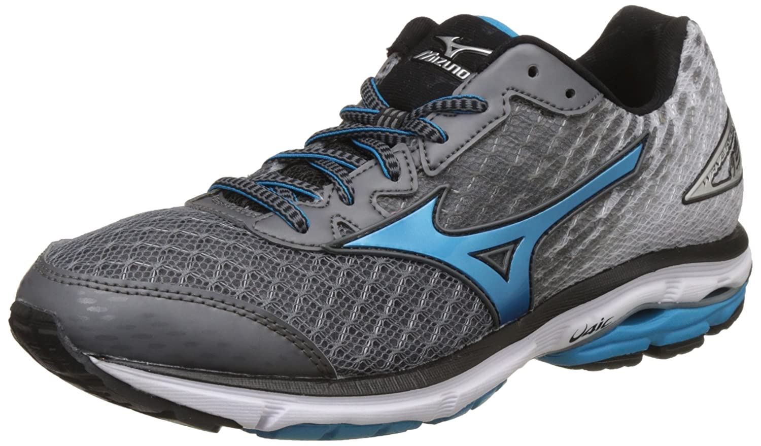 Mizuno Wave Rider 19 Laufschuhe, Herren  43.5|Quiet Shade/ Atomic Blue/ Black
