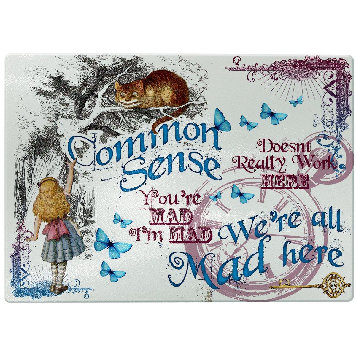 Glass Chopping Board Alice in Wonderland