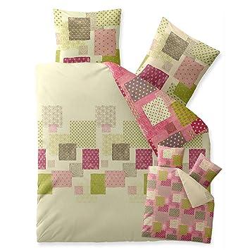 Bettwasche 200x200 Baumwolle Trend Amera Karo Muster Natur Grun