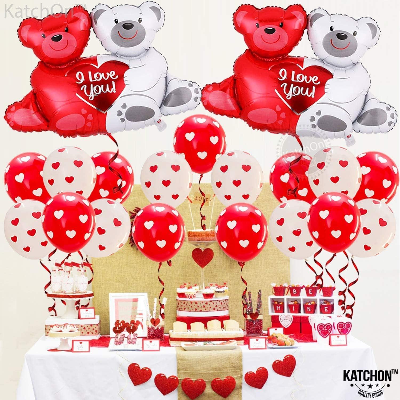 Lot de 23 ballons en forme de c/œur pour la Saint Valentin Avec inscription /« In Hugging Bear /» un anniversaire la Saint-Valentin Ballons en aluminium pour lamour