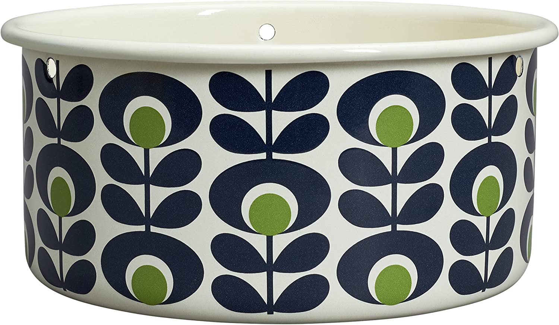 /multicolore Orla Kiely grande spot fiore ovale Apple design vaso pensile/
