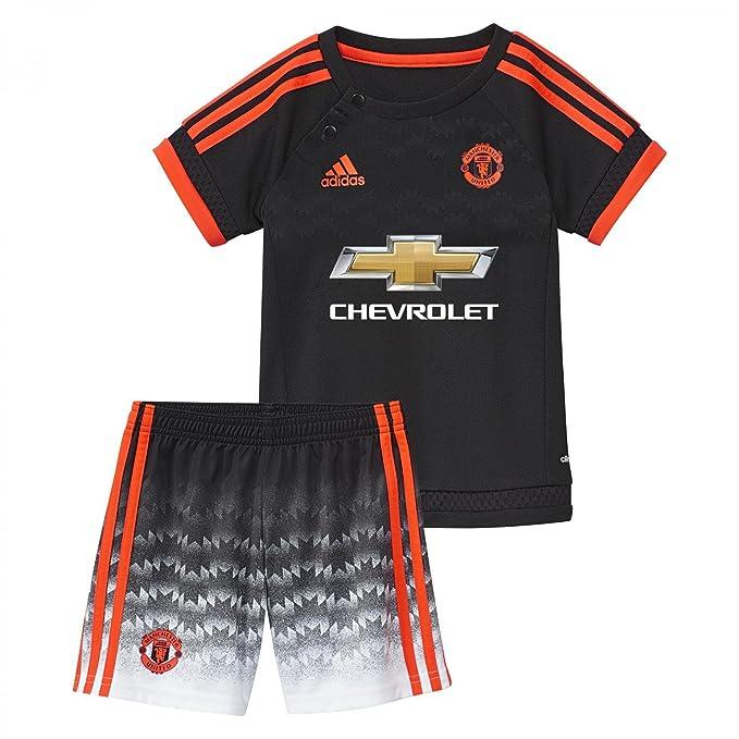 adidas MUFC 3 Baby - Chándal Infantil, Color Negro/Rojo, Talla 74 ...
