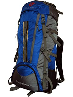 9ea1e772ea Gleam 2209 Climate Proof Mountain Trekking   Rucksack Backback 75Litres Sky  Blue   Grey with Rain
