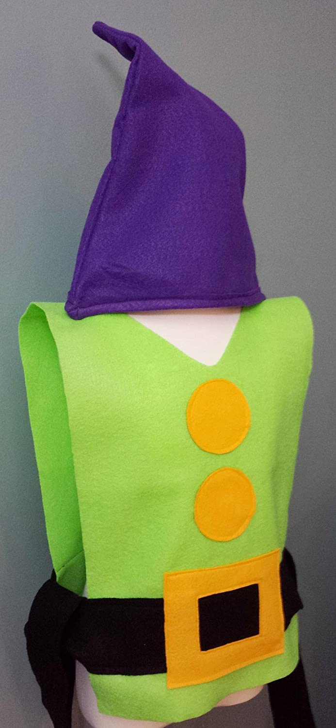 Amazon.com Adult / Big Kid Dopey Costume Set (Snow White and the Seven Dwarfs) Handmade : dopey halloween costume  - Germanpascual.Com