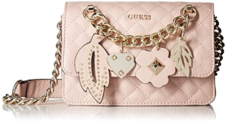 f2c6677c38 Image Unavailable. Image not available for. Colour  GUESS Stassie Pink Mini  Crossbody ...
