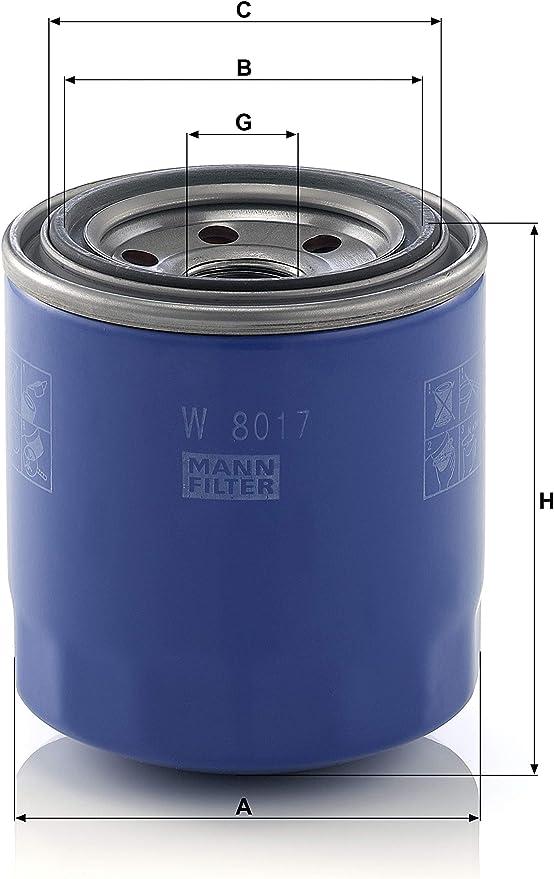 Original Mann Filter W 8017 Schmierölwechselfilter Für Pkw Auto