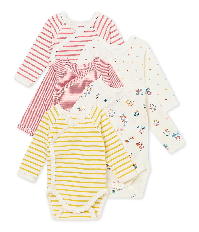 Petit Bateau Baby-Mä dchen Formender Body, 5er Pack 4369500