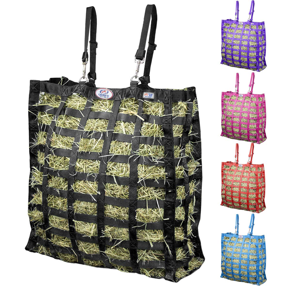 Slow Feeders for Horses - Derby Originals Supreme Patented Four-Sided Slow Feed Horse Hay Bag