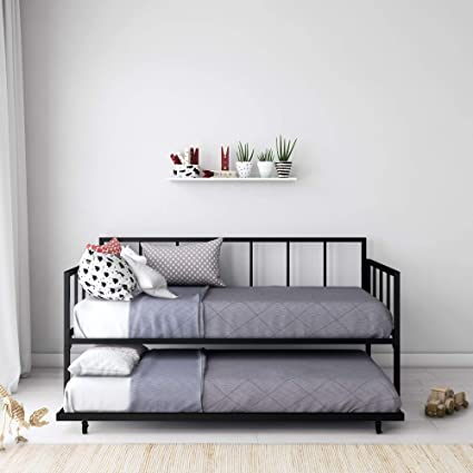 Amazon.com: Modern Finlay Daybed with Trundle Combo, Twin Metal