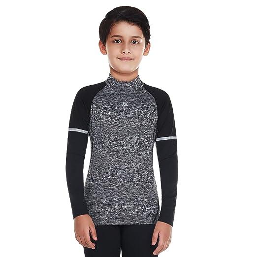 Bwiv Sportshirt Kinder Langarm Atmungsaktiv Sportunterwäsche Funktionsunterwäsche Jungen Thermounterwäsche Trainingshirt Funk