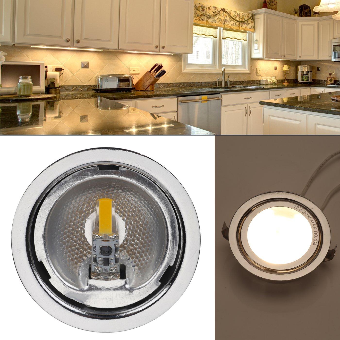 10W Glass Halogen Light Bulbs Replacement 10-Pack G4 Base 1W LED Bulbs JC T3 Lamp for Under Cabinet Lighting Warm White 2700K 12V-24V AC // 10V-30V DC RV, vehicles, caravan, motor homes, boats