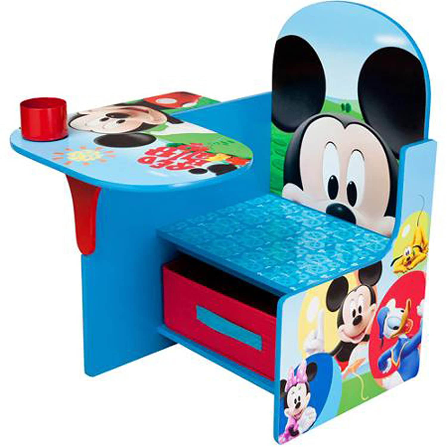 Merveilleux Amazon.com: Disney Chair Desk With Storage Bin Mickey Mouse Characters Desk  Set Fabric Storage Bin Seat Extra Storage Table Desk Chair MDF Construction  ...