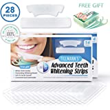 Teeth Whitening Strips - Perfect Smile 14 Days Teeth Whitening Kit 60 Pcs Dental Floss Picks By Tillmann's® | Fluoride Free Teeth Whitening Peroxide Free Set