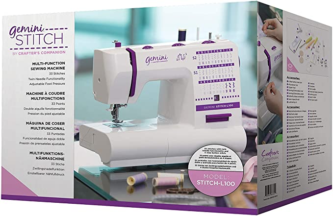 Amazon.com: Crafters Companion Gemini Stitch Sewing Machine (North American Version)-