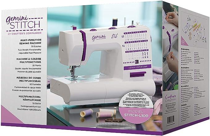 Amazon.com: Crafters Companion Gemini Stitch Sewing Machine (North American Version)-