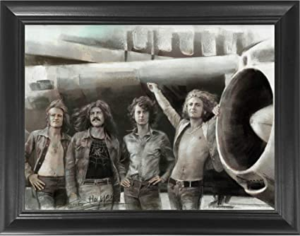 Robert Plant poster art print Led Zeppelin wall art.