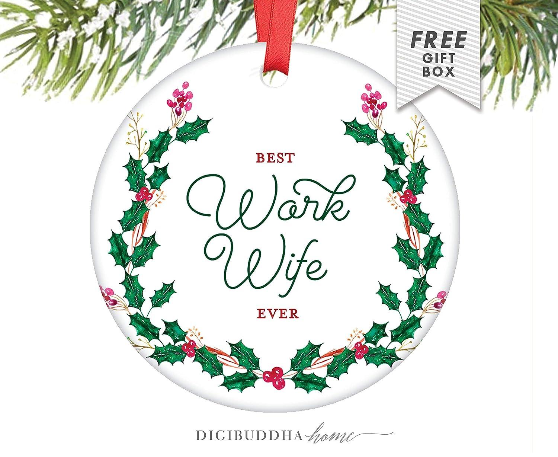 Amazon.com: Cheyan Work Wife Gift, Work Wife Christmas Ornament ...