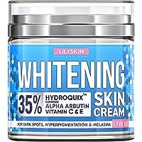 LILYSKIN Cream, Natural Skin Lightening - Made in USA - Works for Hyperpigmentation - Bleach Skin Easy - 1.7 oz.