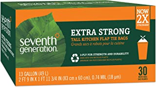 product image for Seventh Generation Trash Bags, Tall Kitchen, 13-Gallon, 30-Count Boxes (Pack of 12)