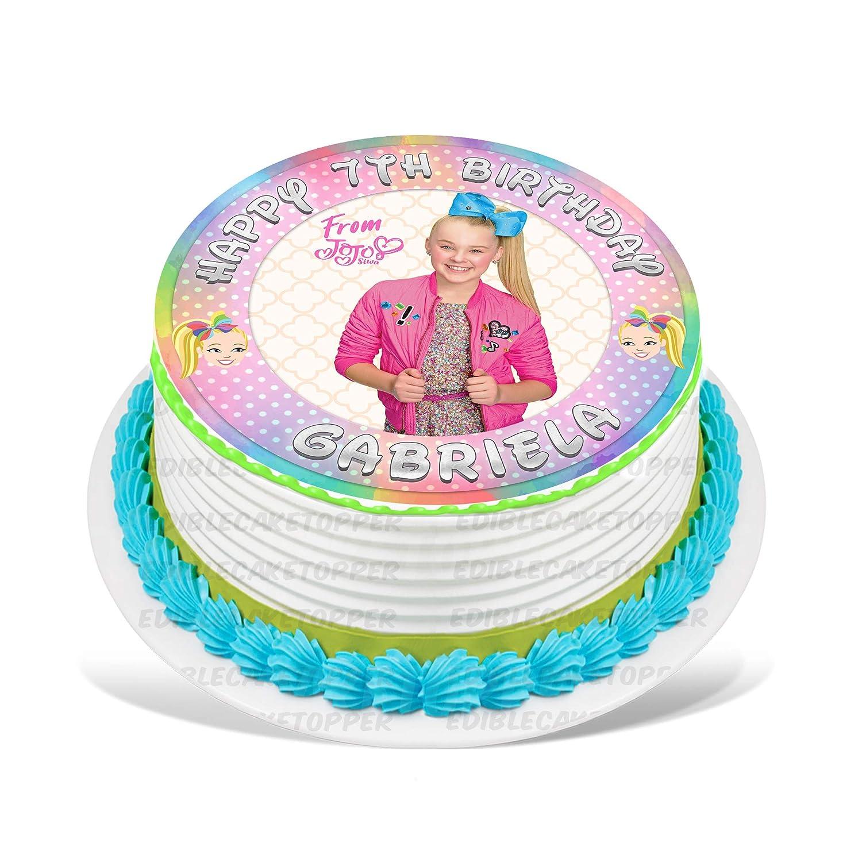 Jojo Siwa Joelle Joanie Edible Cake Image Personalized Topper Icing
