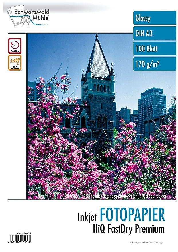 Hochglanz-Fotopapier Supreme exklusiv 270g//A4 Drucker-Papier 40 Bl Schwarzwald M/ühle Fotopapier Inkjet