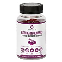 Elderberry Gummies (100mg) Immunity Booster Formula with Zinc (90mg) and Vitamin C (7.5mg). Adult and Child friendly. Non-GMO, Gluten-Free, Vegan Friendly, 3rd-party tested, USA Bottled.