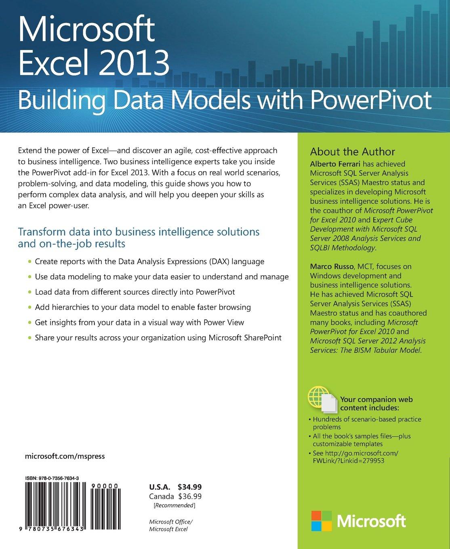 Microsoft Excel  Building Data Models With Powerpivot Pdf