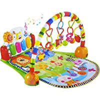 Baby Playmat Intelligent Piano Gym Play Mat Infant Play Gym Activity Music Mat Multifunctional Kicking, Playing Piano Gym Piano Body-building Gym