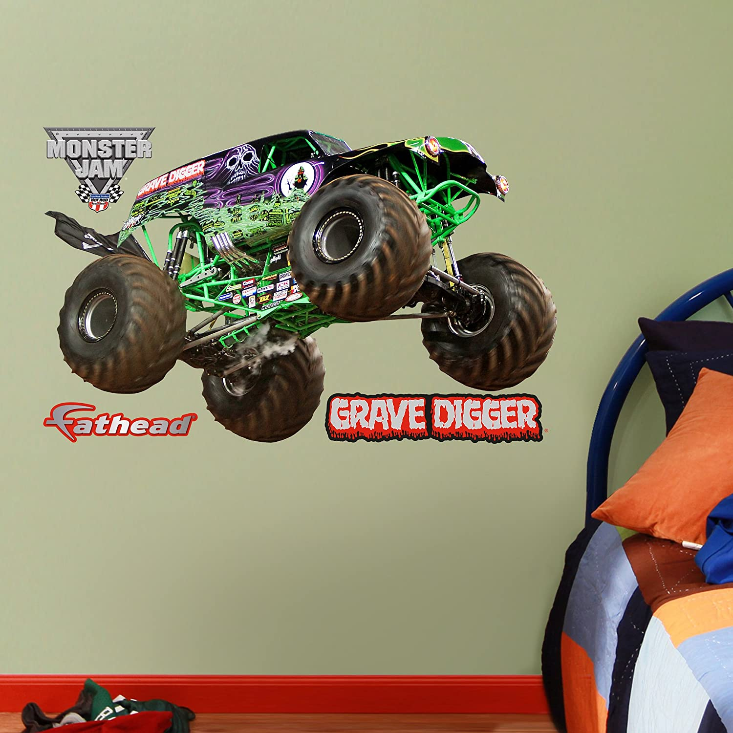 Amazon.com: FATHEAD Grave Digger Fathead Jr. Graphic Wall Décor: Home U0026  Kitchen