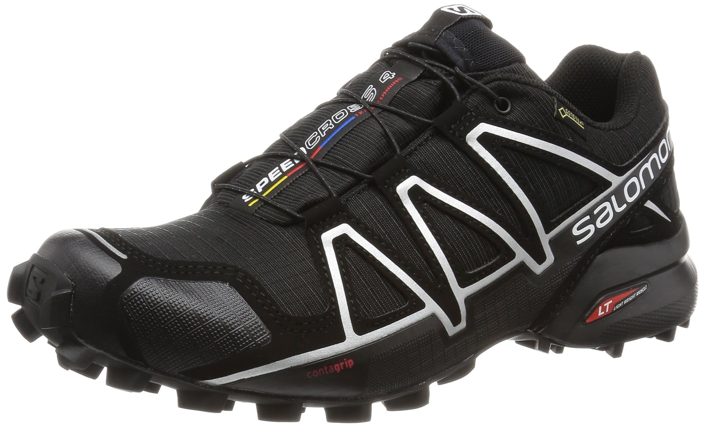 Salomon Men's Speedcross 4 GTX Trail Running Shoes, Black/Black/SILVER METALLIC-X, 10.5 by SALOMON
