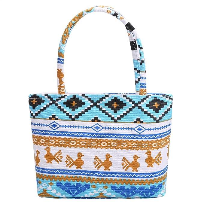 CRAVOG Bolsa de Mano de Lona Carteras de Mano Moda Bolso de Hombro Bolsas de Mensajero: Amazon.es: Ropa y accesorios
