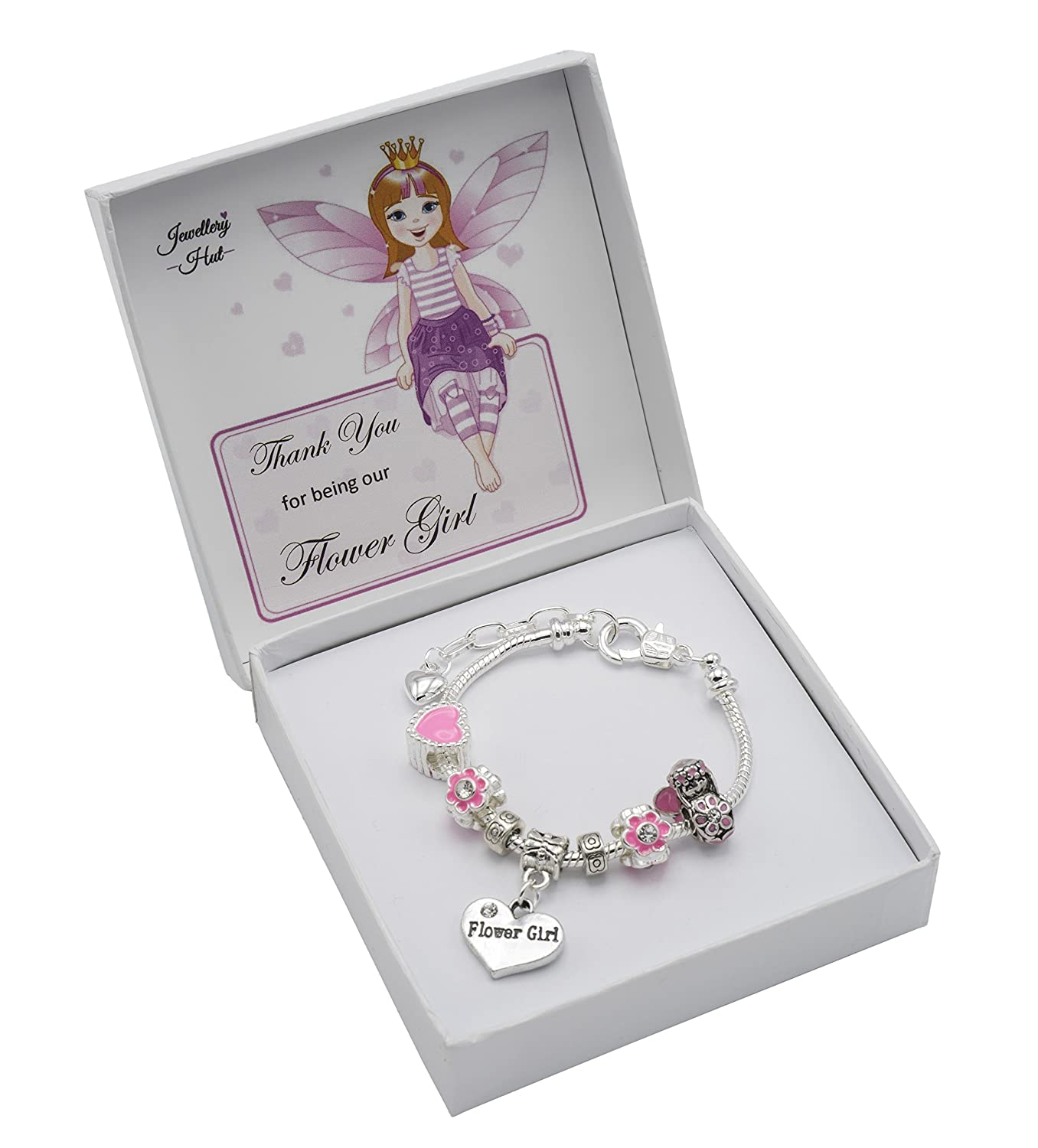 girl bracelet with initial charm white purple crystal glass kids personalised product flowergirl pearl img flower