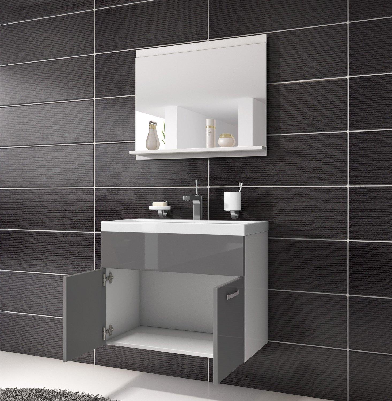 Armadietto da bagno Montreal 02 60 cm, Grigio Lucido, armadio ...