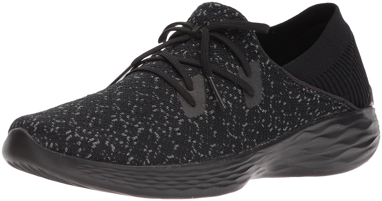 Skechers Women's You-14964 Sneaker B0721DBB19 8 B(M) US|Black/Gray