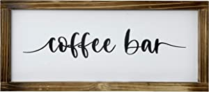 Chiaravita Coffee BarCoffee Bar-Rustic Farmhouse Decorations for The Kitchen, Modern Decor for The Home, Cute Farmhouse Sign for Wall, Wall Art, Home Decor, 17x7.5 Inch
