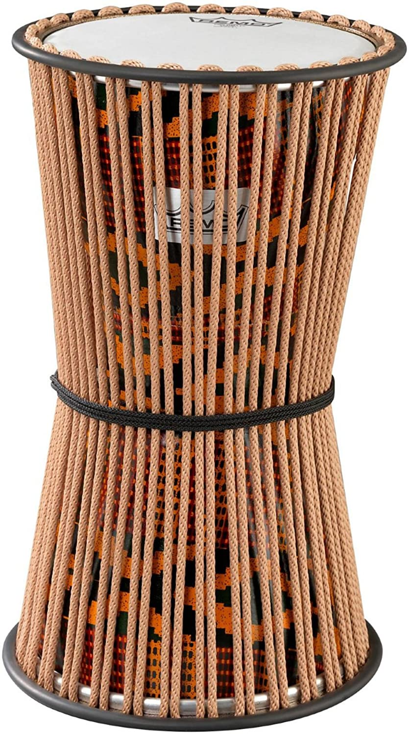 Remo Talking Drum - Fabric African Stripe, 8
