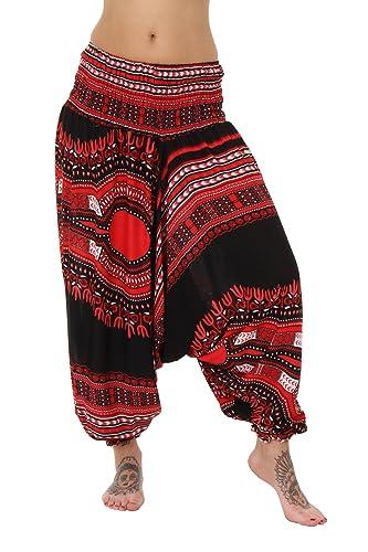 Pantalones de harén, entrepierna holgada en caída, diseños dashiki