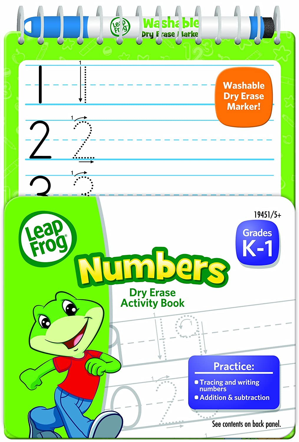 Amazon.com: LeapFrog Numbers Dry Erase Activity Book for Grades K-1 ...