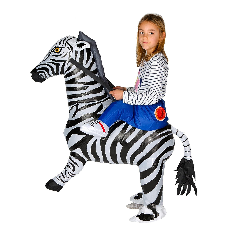 Bodysocks Inflatable Zebra Fancy Dress Costume One size fits most Kids ages 5-11
