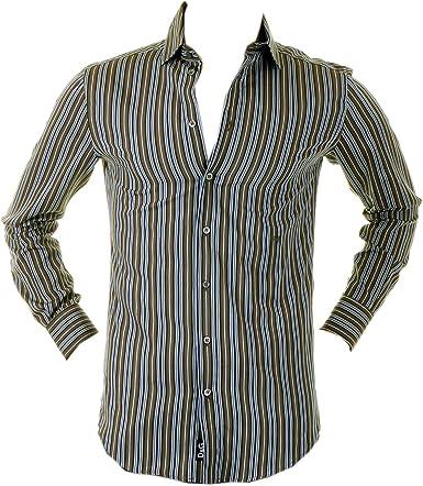Dolce & Gabbana D&G RS0148 TN5FQ camisa a rayas oliva DGM1011 Multicolor multicolor L: Amazon.es: Ropa y accesorios