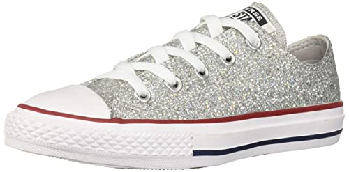 9154de72e04105 Converse Unisex-Kinder Chuck Taylor All Star Sneaker Grau (Mouse Enamel Red
