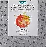 Dilmah Vivid Apple Pie with Vanilla Teabag Refill Box, 40 Grams