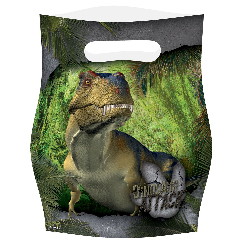 Amscan- Bolsa Chuches de Fiesta Dinosaurio Attack, 8 Piezas ...
