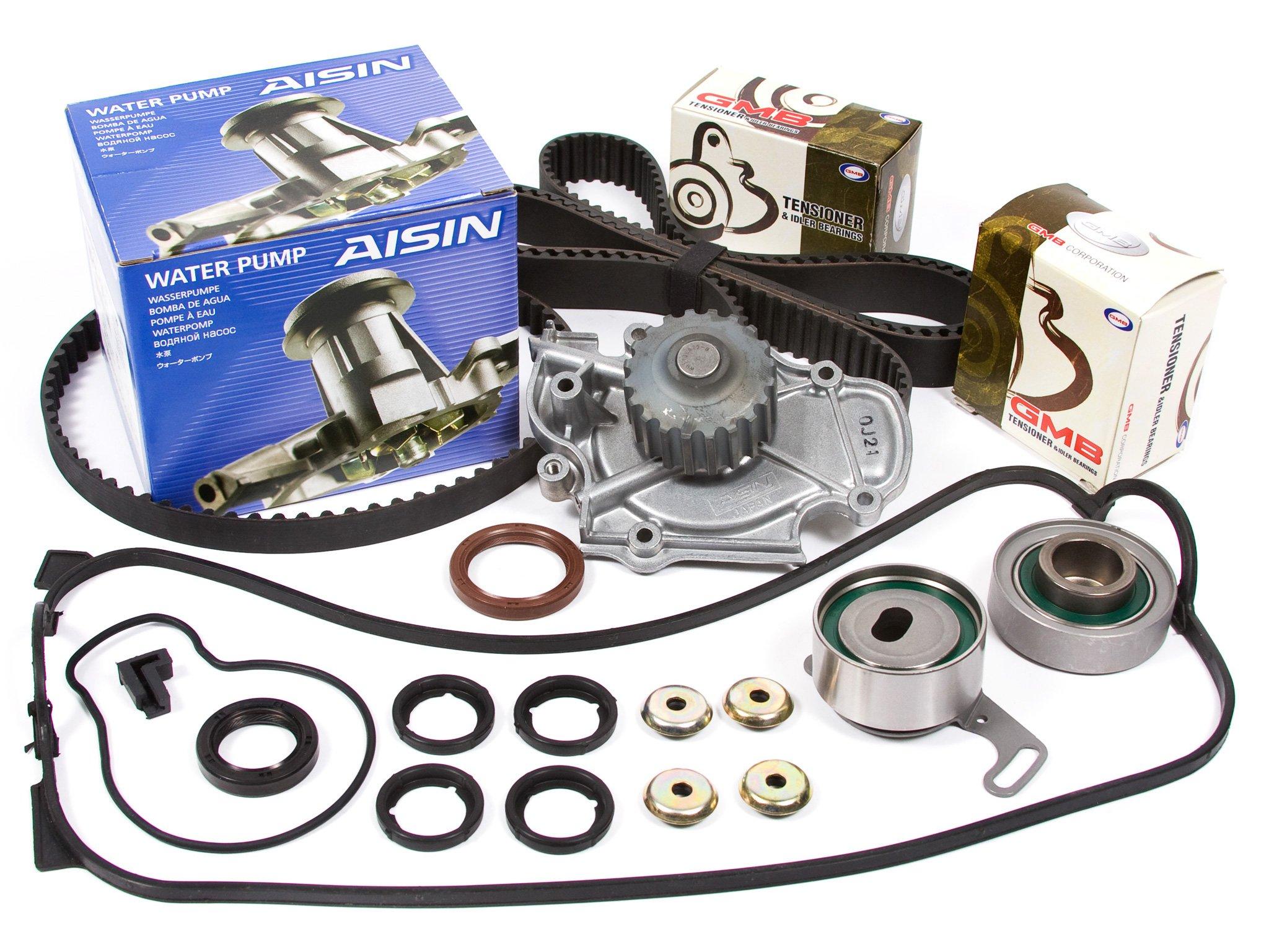Evergreen TBK187VCN Fits 90-97 2.2L Honda Accord Odyssey Isuzu F22A F22B Timing Belt Kit Valve Cover Gasket NPW Water Pump